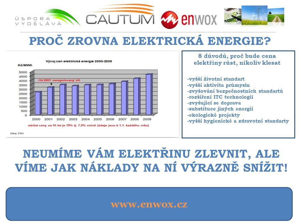 PROČ ZROVNA ELEKTRICKÁ ENERGIE