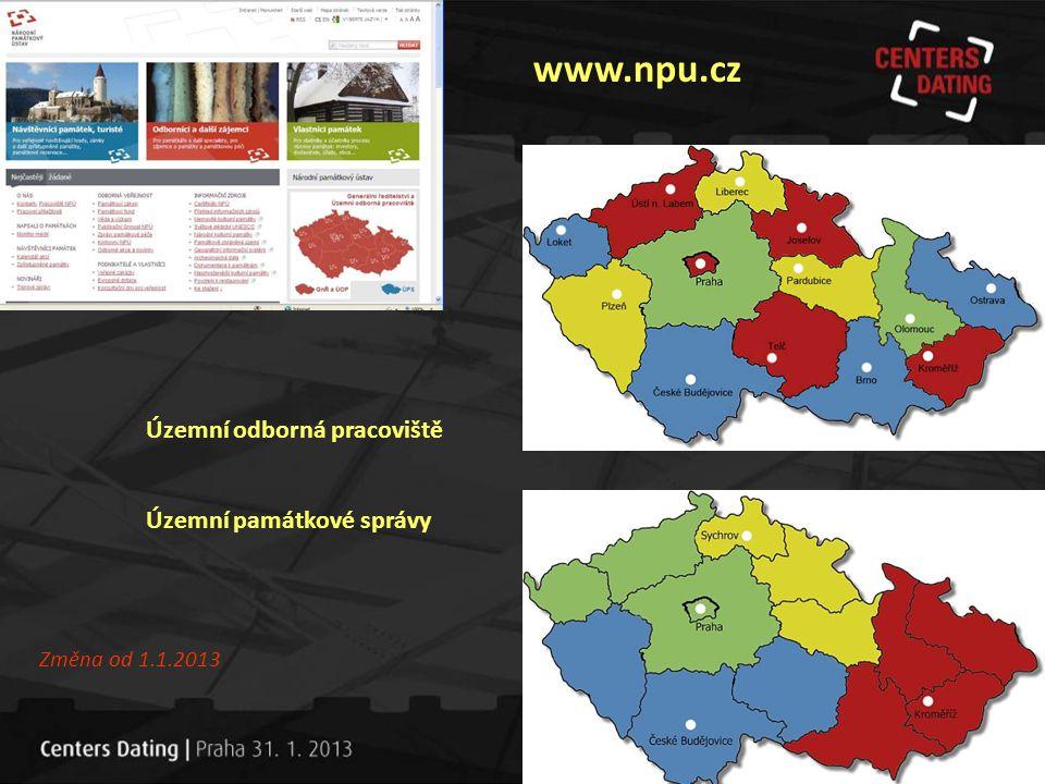 www.npu.cz Územní odborná pracoviště Územní památkové správy