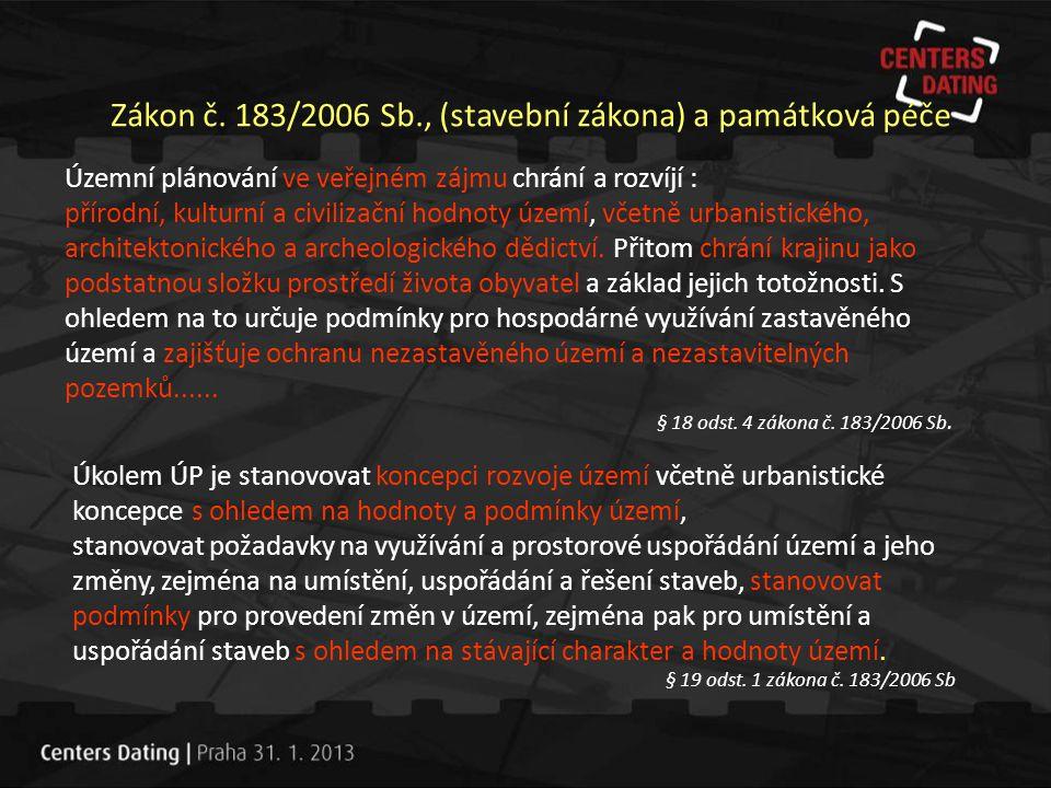 Zákon č. 183/2006 Sb., (stavební zákona) a památková péče