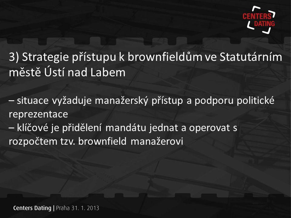 3) Strategie přístupu k brownfieldům ve Statutárním městě Ústí nad Labem