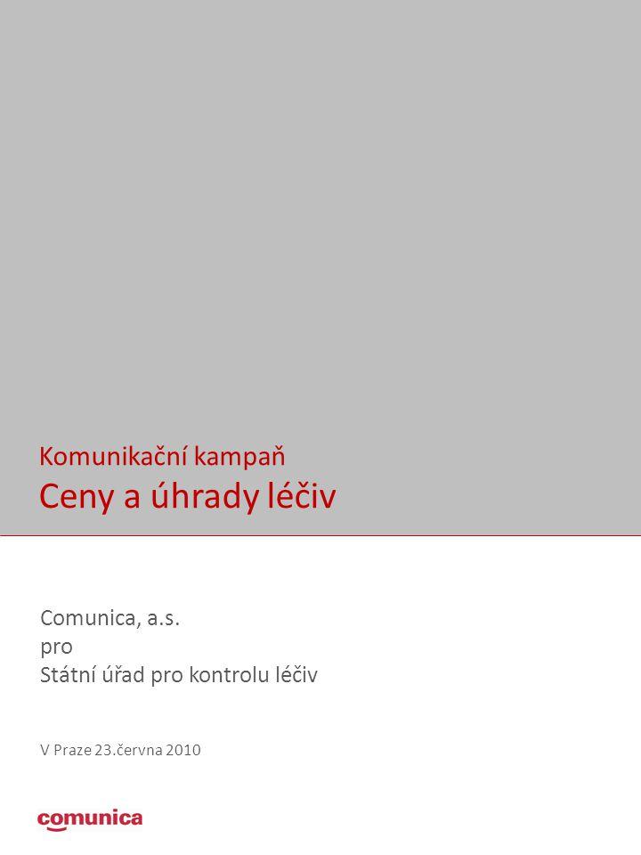 Ceny a úhrady léčiv Komunikační kampaň Comunica, a.s. pro