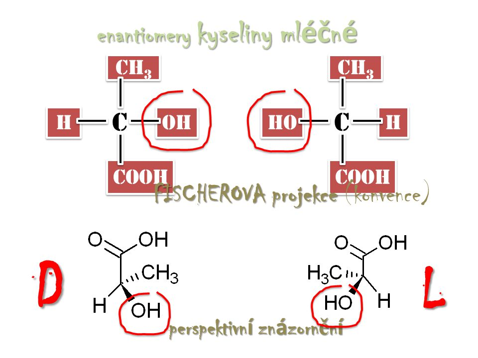 enantiomery kyseliny mléčné