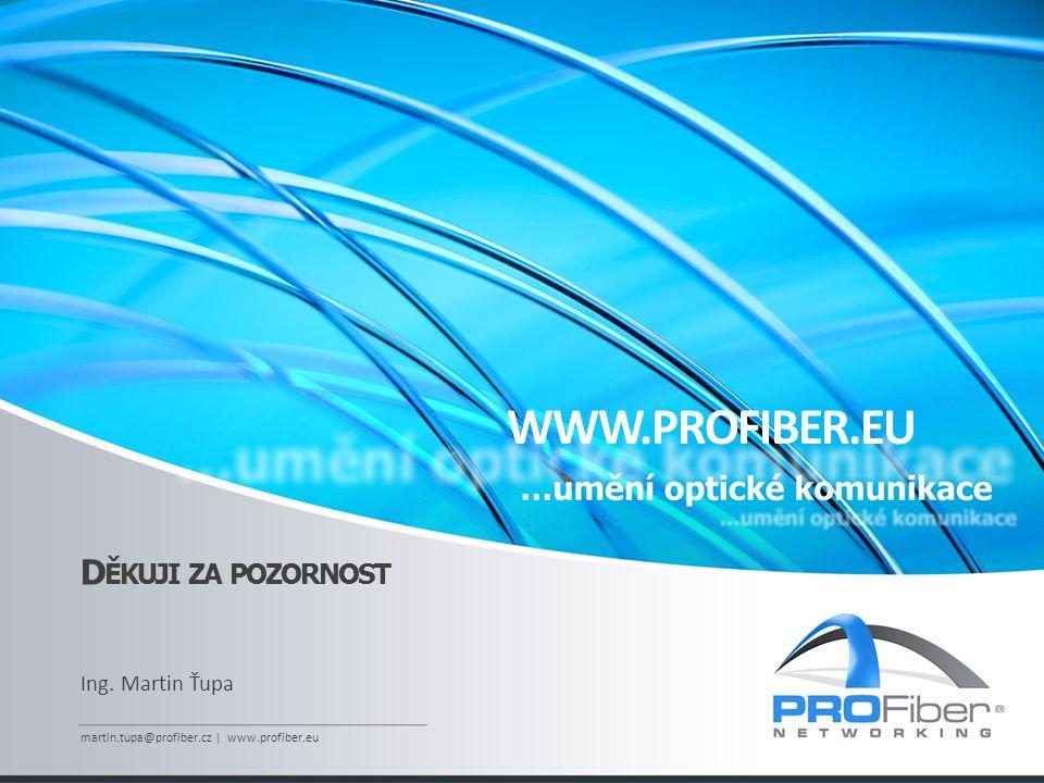 WWW.PROFIBER.EU Děkuji za pozornost Ing. Martin Ťupa