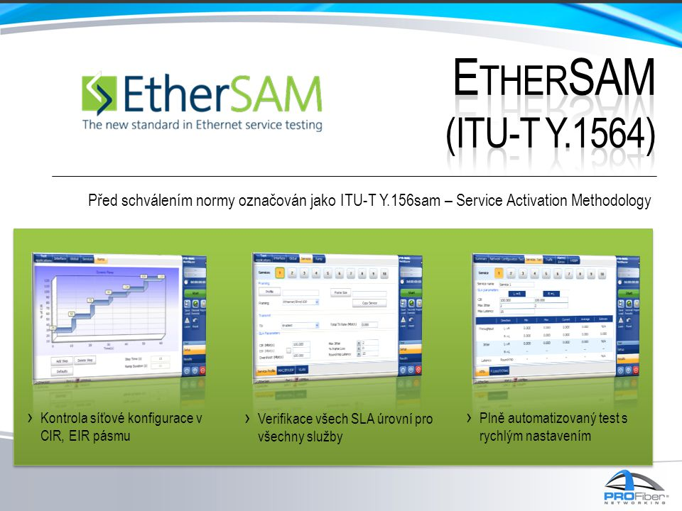 EtherSAM (ITU-T Y.1564) Před schválením normy označován jako ITU-T Y.156sam – Service Activation Methodology.