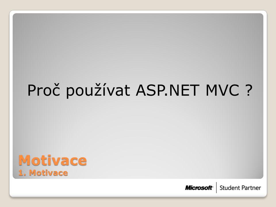 Proč používat ASP.NET MVC