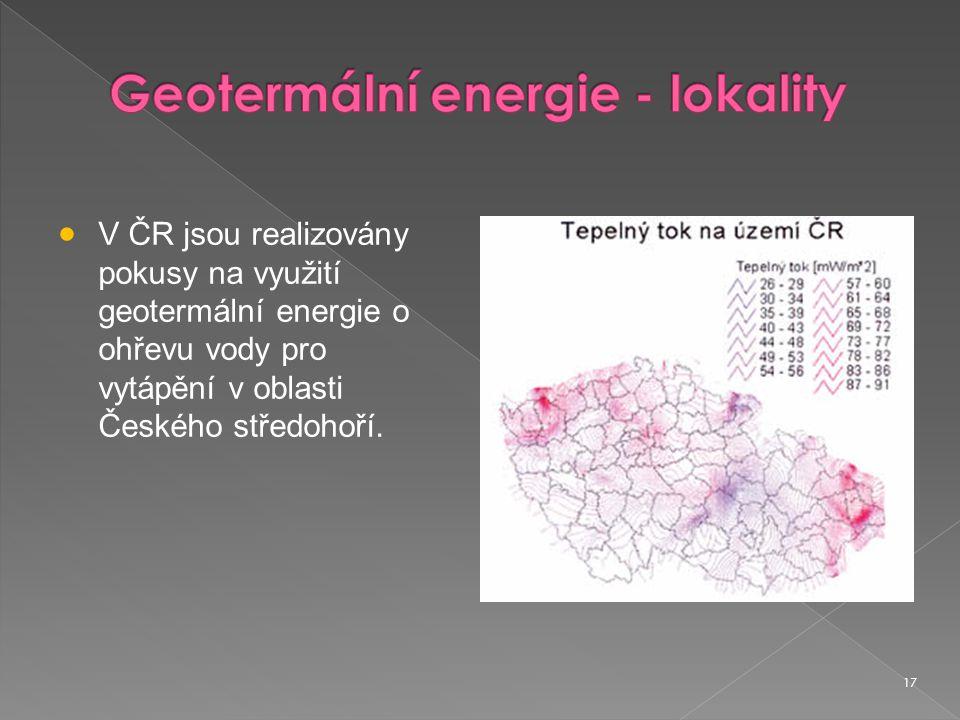 Geotermální energie - lokality