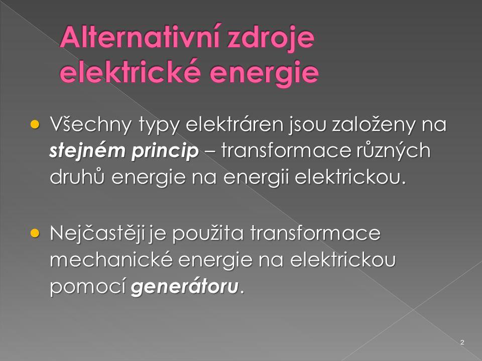 Alternativní zdroje elektrické energie