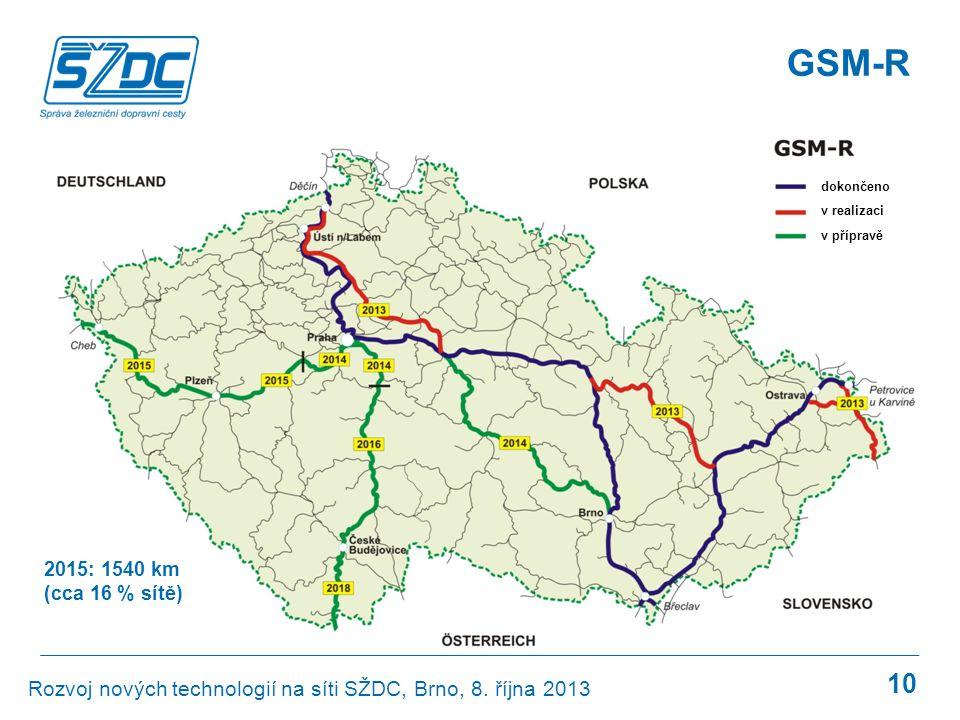 GSM-R GSM-R. dokončeno. v realizaci. v přípravě.