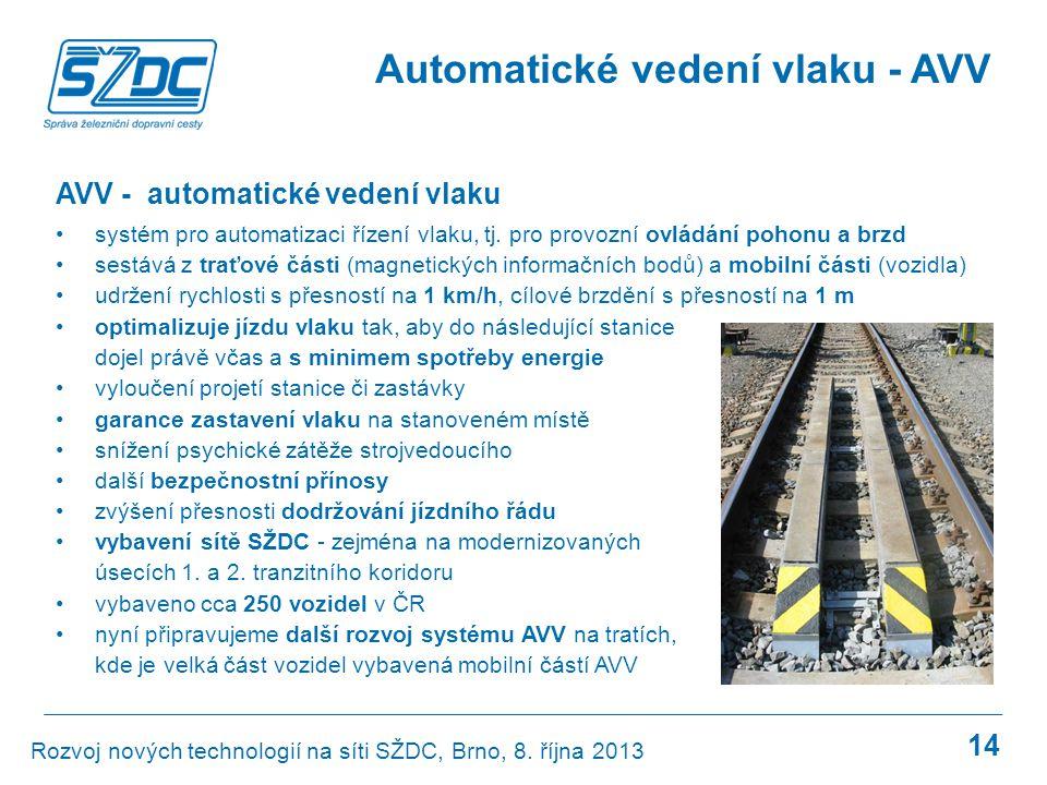 Automatické vedení vlaku - AVV
