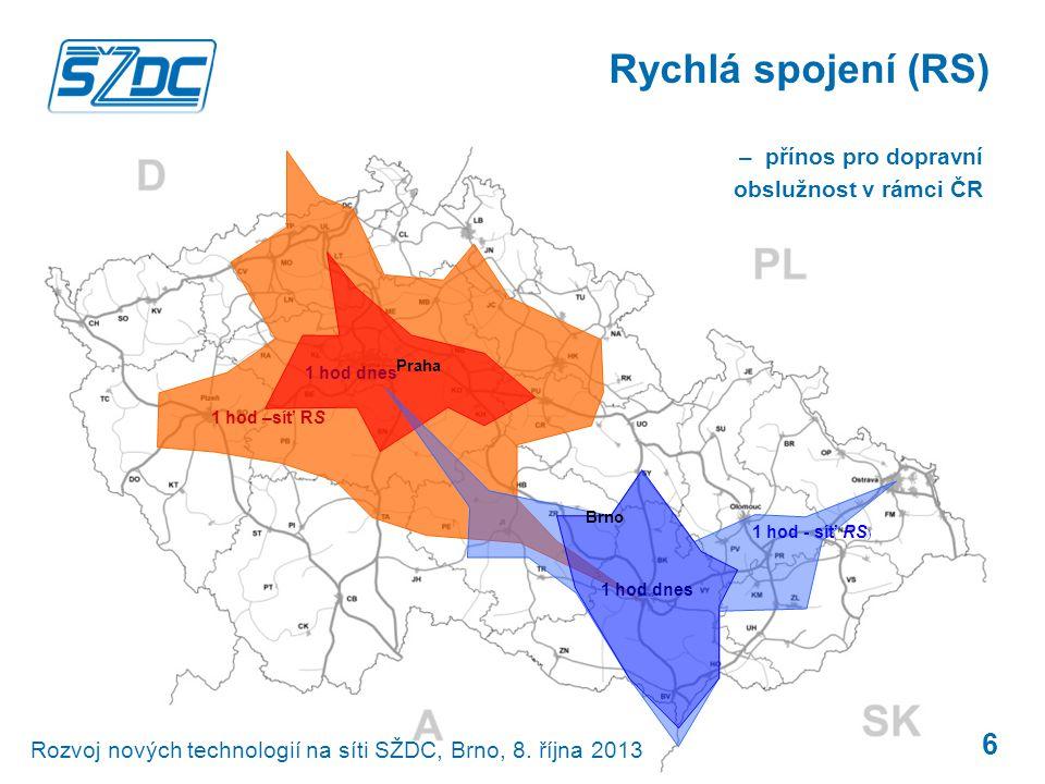 Rychlá spojení (RS) – přínos pro dopravní obslužnost v rámci ČR