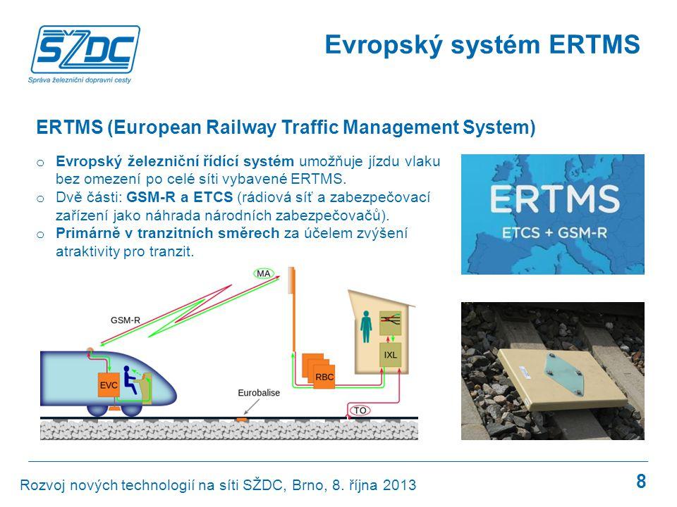 Evropský systém ERTMS ERTMS (European Railway Traffic Management System)