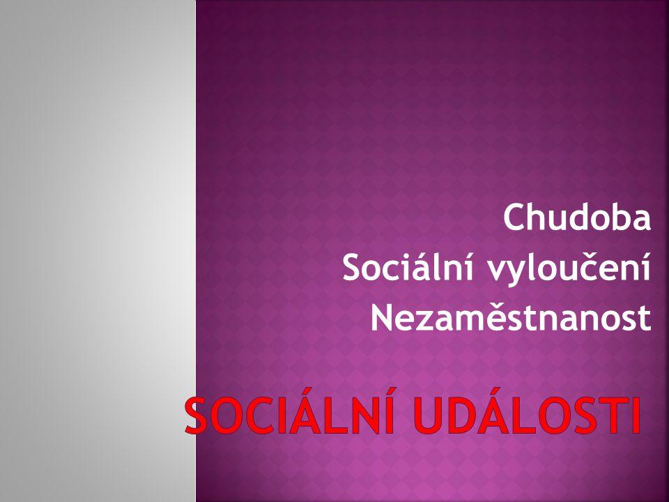 Chudoba Sociální vyloučení Nezaměstnanost