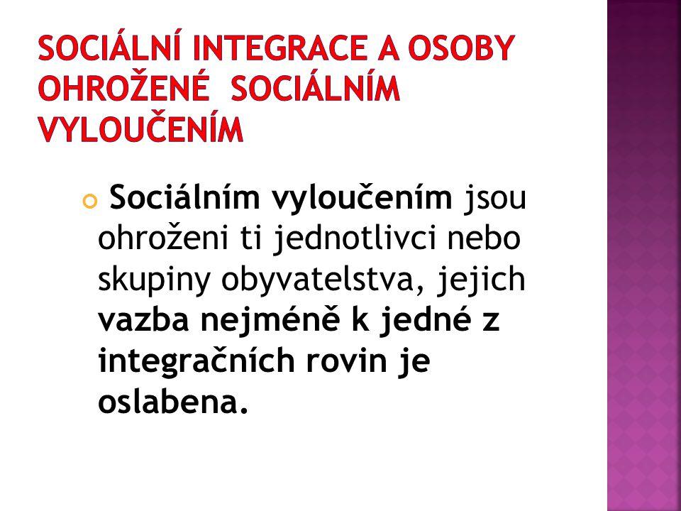 Sociální integrace a osoby ohrožené sociálním vyloučením