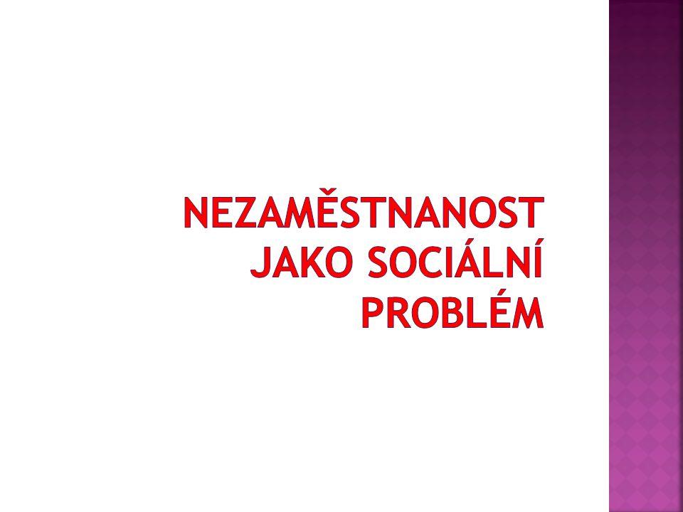 Nezaměstnanost jako sociální problém