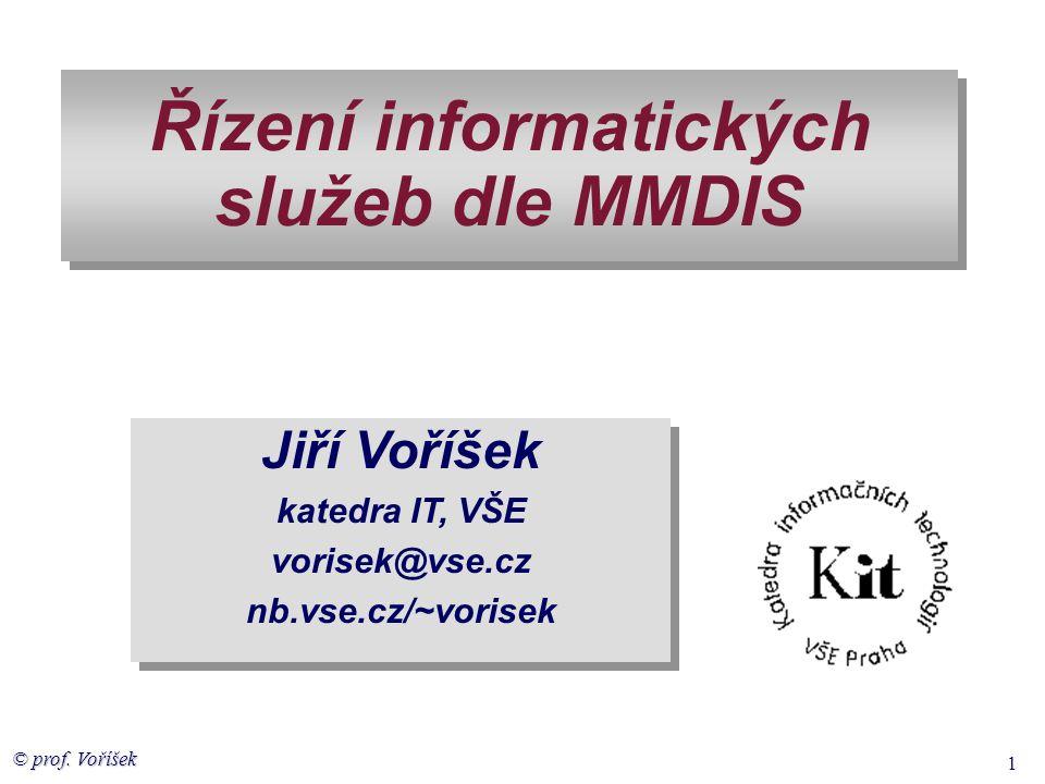 Řízení informatických služeb dle MMDIS
