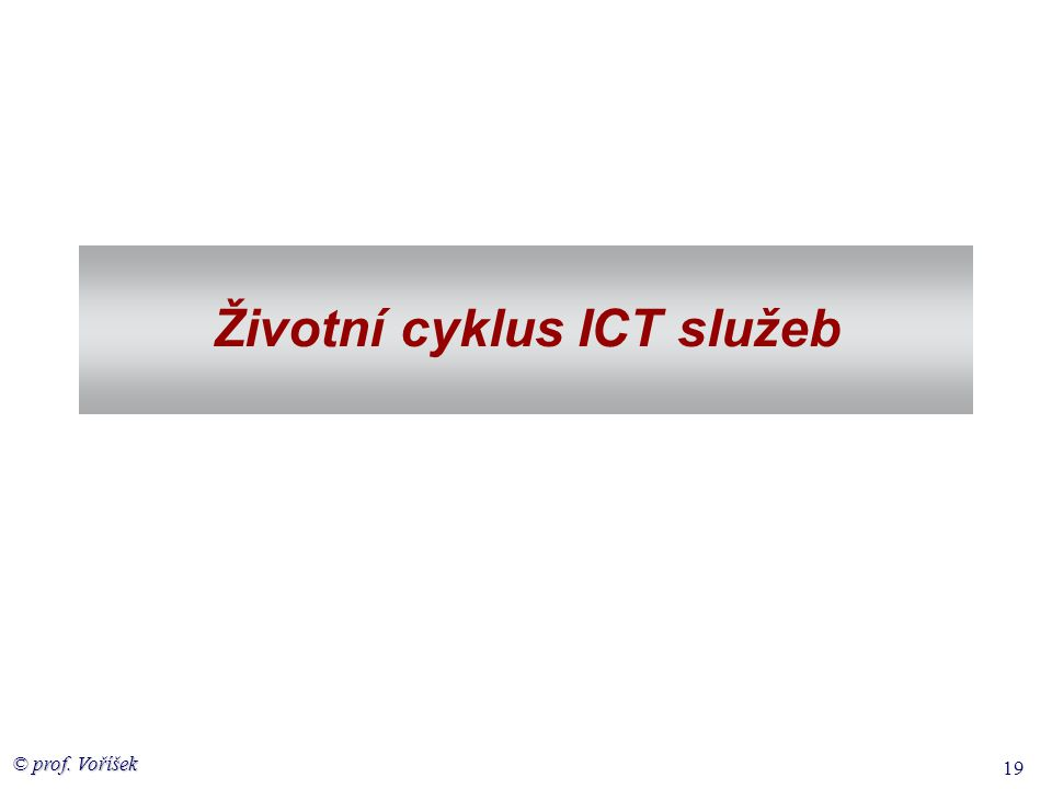Životní cyklus ICT služeb