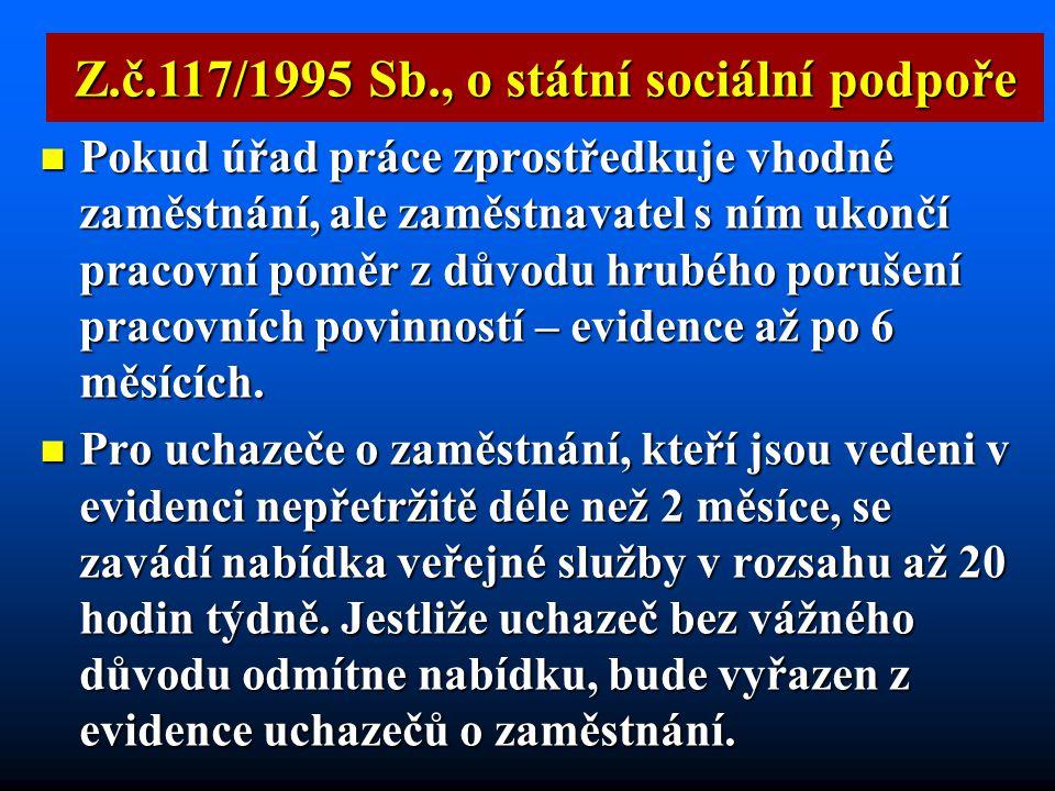Z.č.117/1995 Sb., o státní sociální podpoře