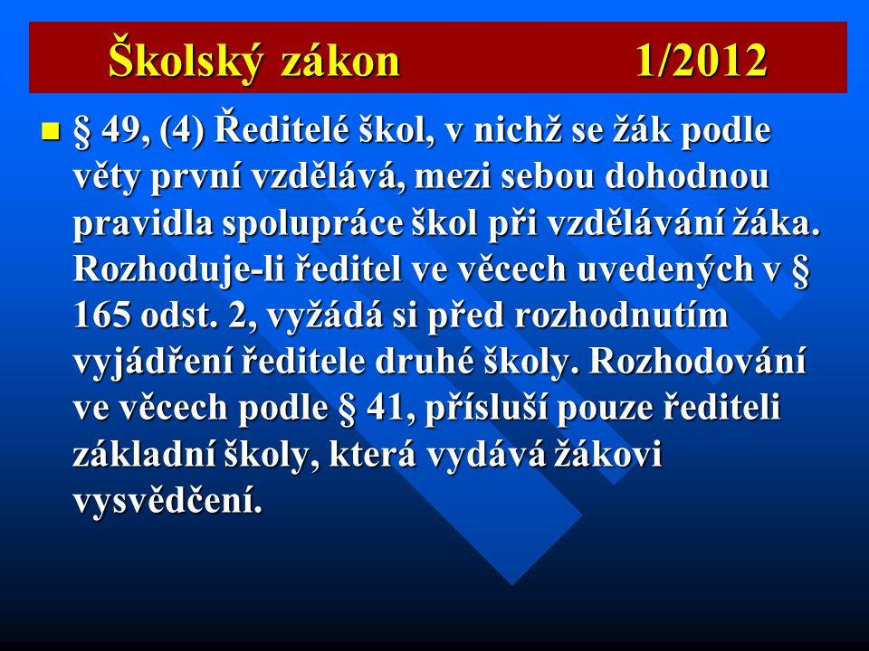 Školský zákon 1/2012