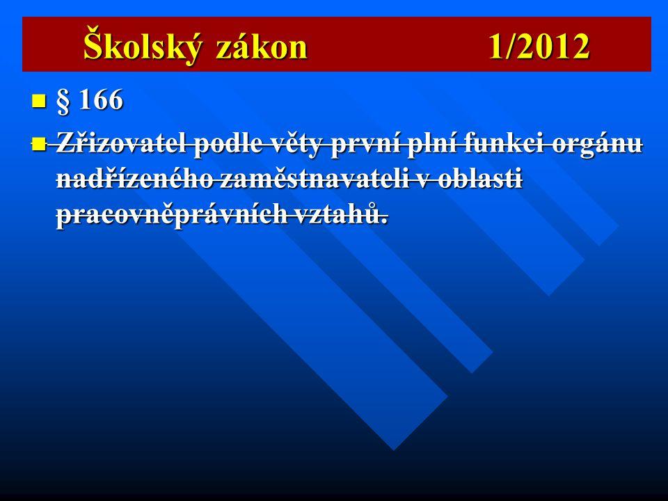 Školský zákon 1/2012 § 166.