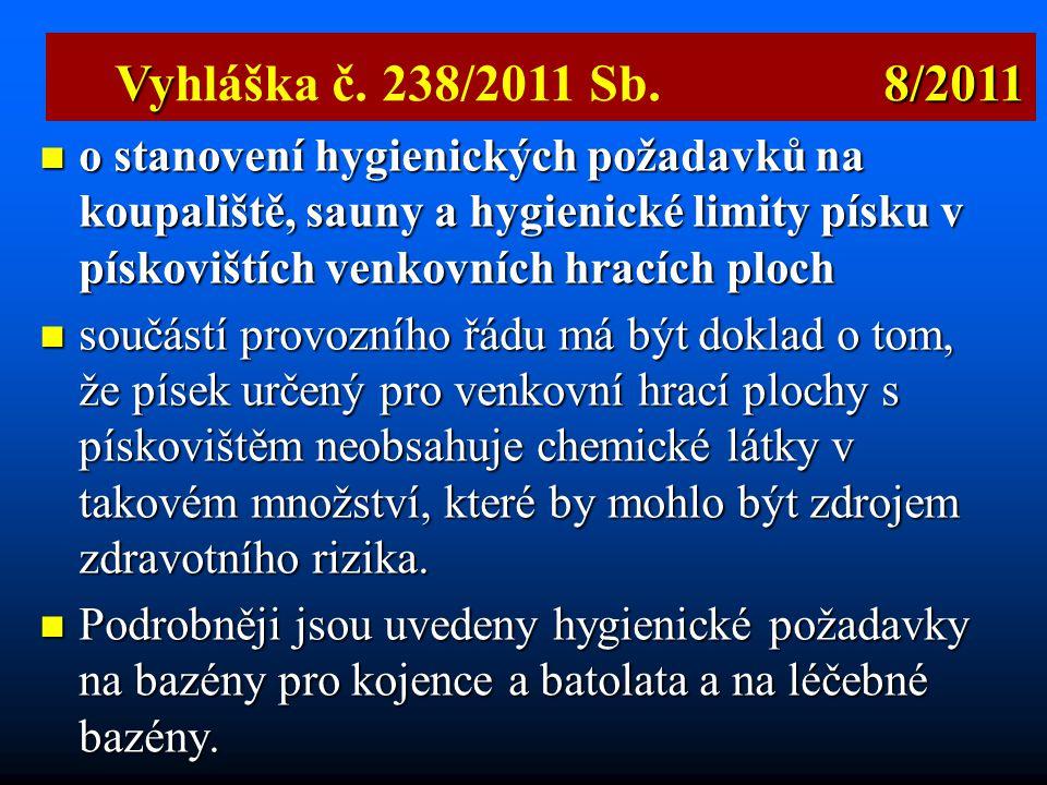 Vyhláška č. 238/2011 Sb. 8/2011