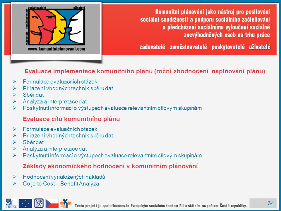 Evaluace implementace komunitního plánu (roční zhodnocení naplňování plánu)