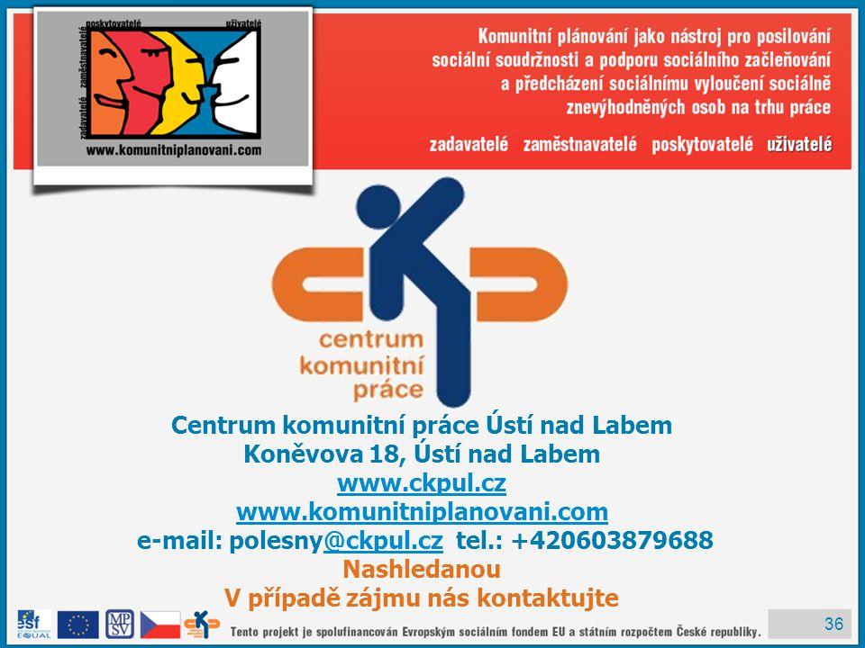Centrum komunitní práce Ústí nad Labem Koněvova 18, Ústí nad Labem