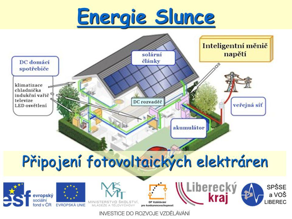 Připojení fotovoltaických elektráren