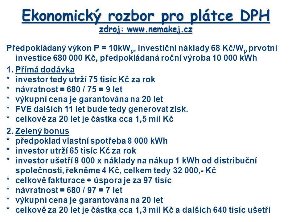 Ekonomický rozbor pro plátce DPH zdroj: www.nemakej.cz