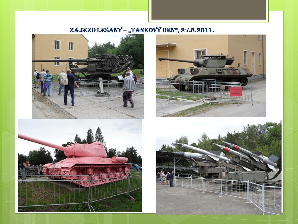 """Zájezd Lešany – """"tankový den , 27.8.2011."""