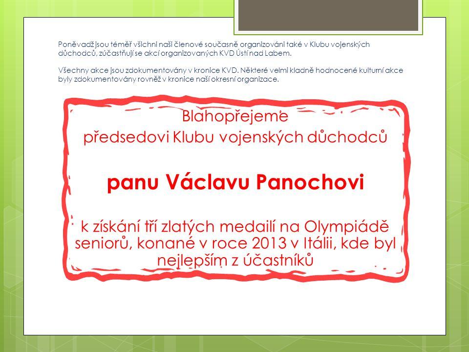 panu Václavu Panochovi