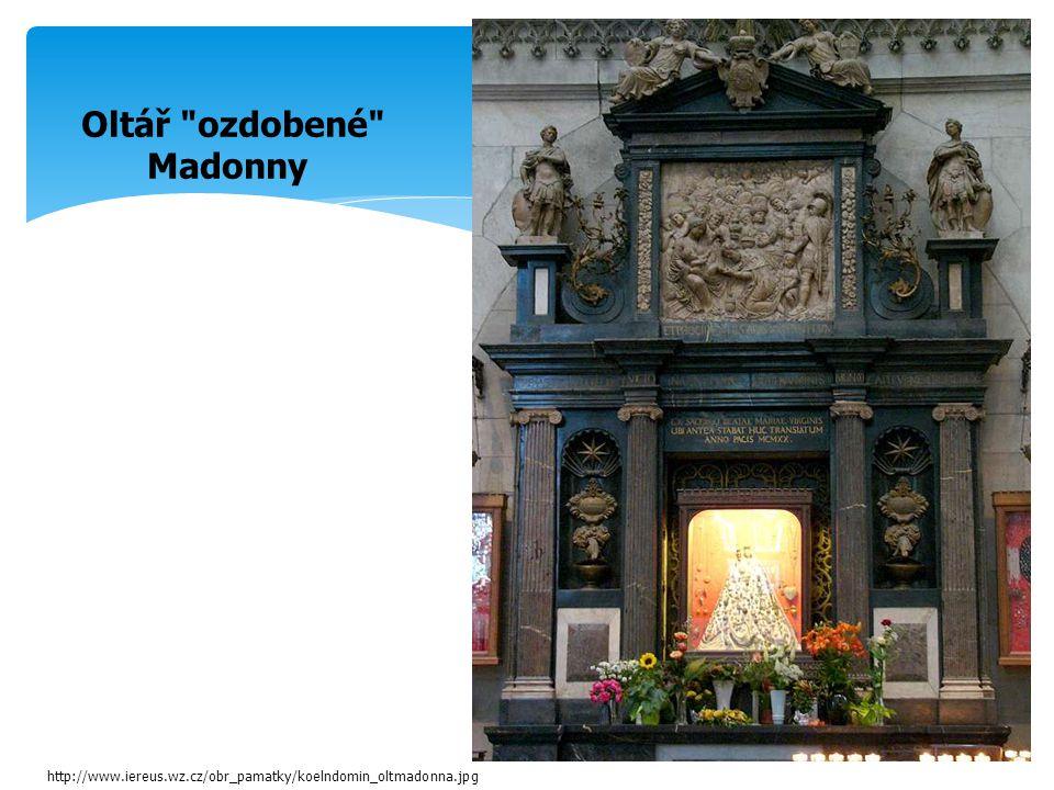 Oltář ozdobené Madonny