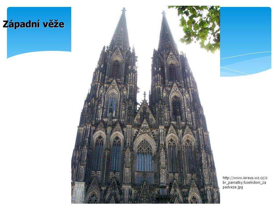 Západní věže http://www.iereus.wz.cz/obr_pamatky/koelndom_zapadveze.jpg
