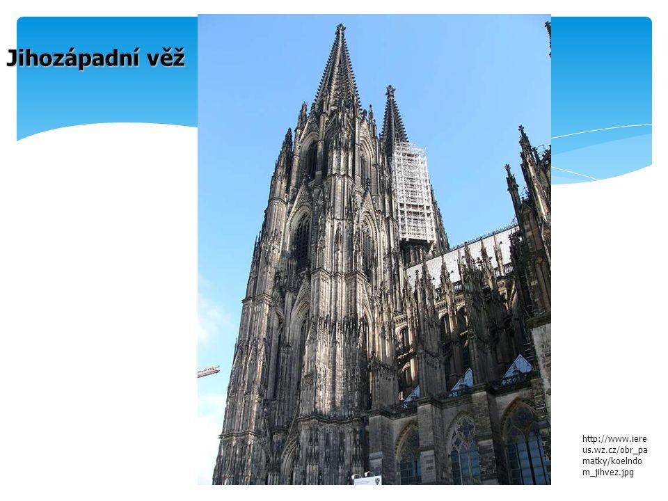 Jihozápadní věž http://www.iereus.wz.cz/obr_pamatky/koelndom_jihvez.jpg