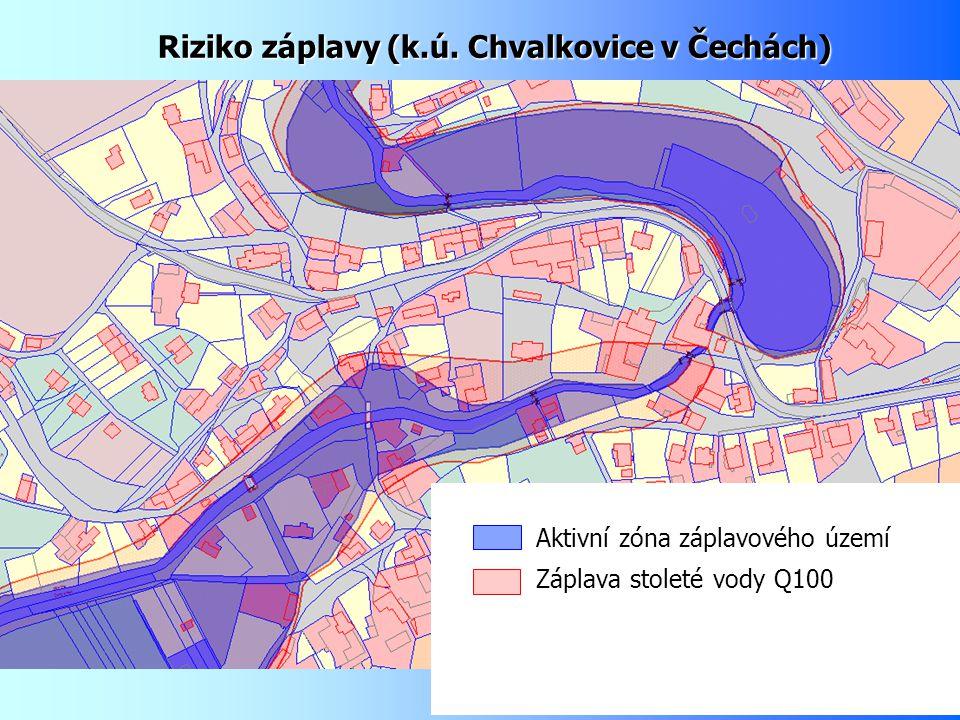 Riziko záplavy (k.ú. Chvalkovice v Čechách)