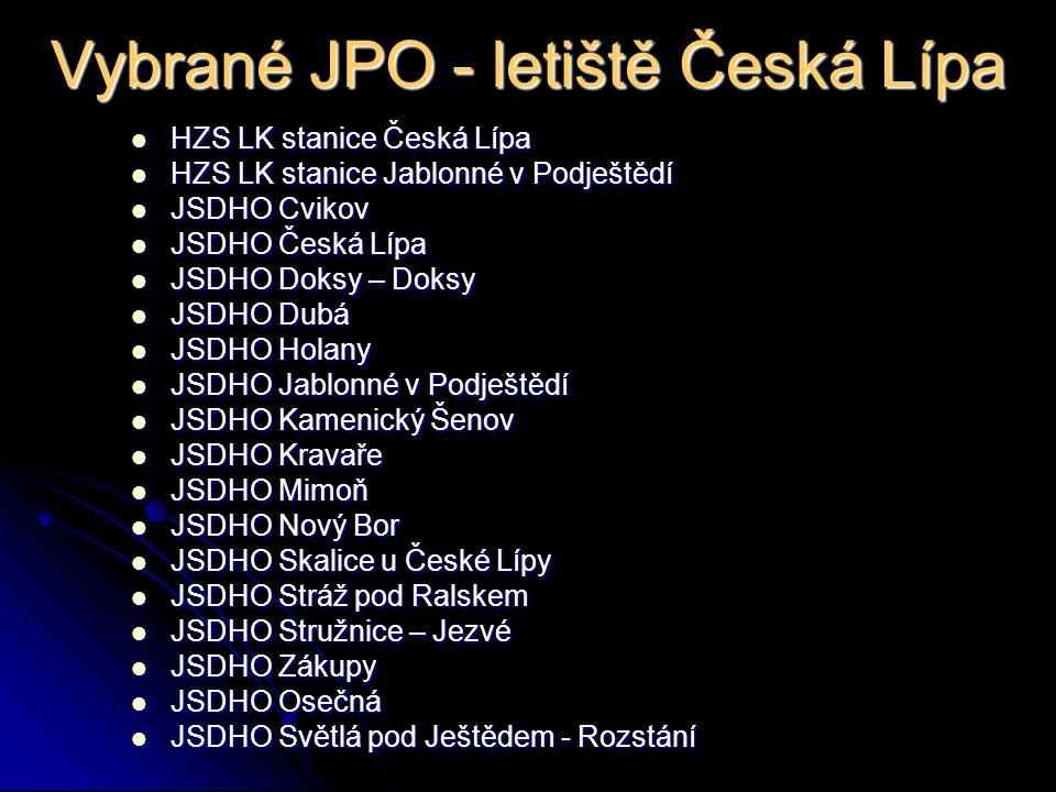 Vybrané JPO - letiště Česká Lípa