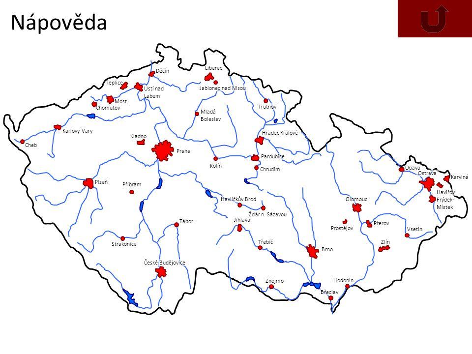 Nápověda Děčín Liberec Teplice Ústí nad Labem Jablonec nad Nisou Most
