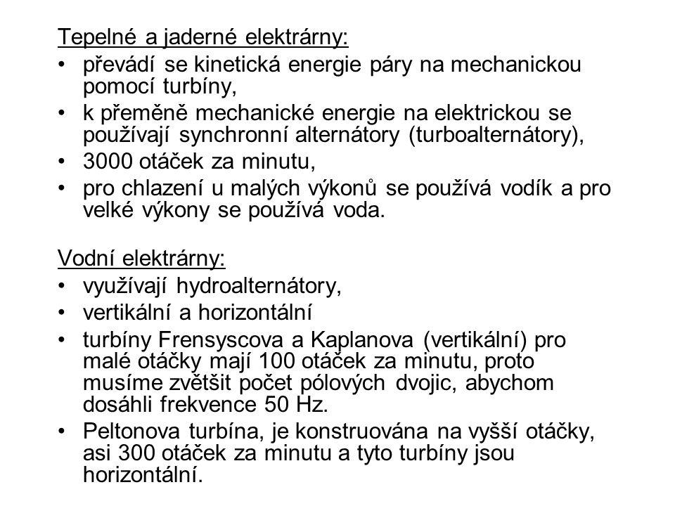 Tepelné a jaderné elektrárny: