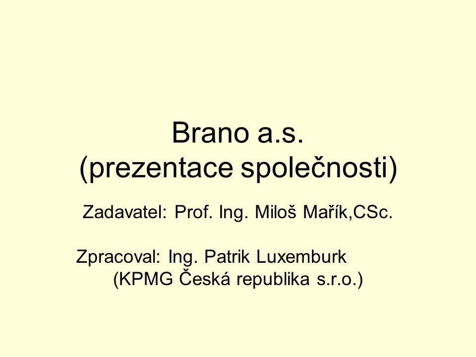 Brano a.s. (prezentace společnosti)