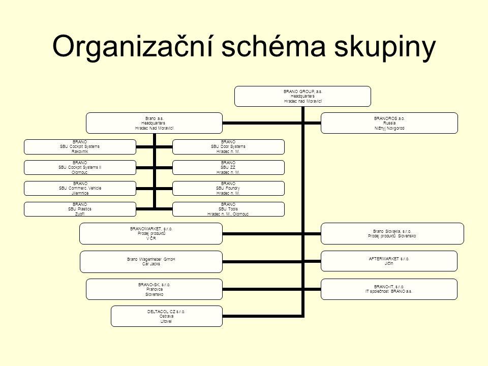 Organizační schéma skupiny