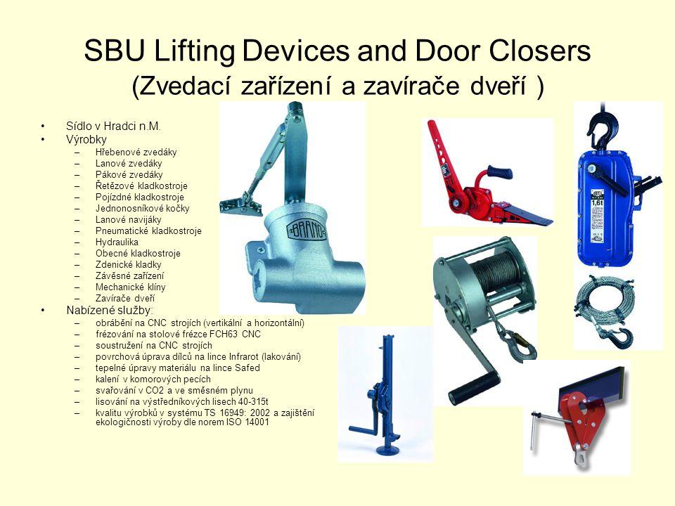 SBU Lifting Devices and Door Closers (Zvedací zařízení a zavírače dveří )
