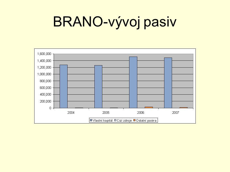 BRANO-vývoj pasiv