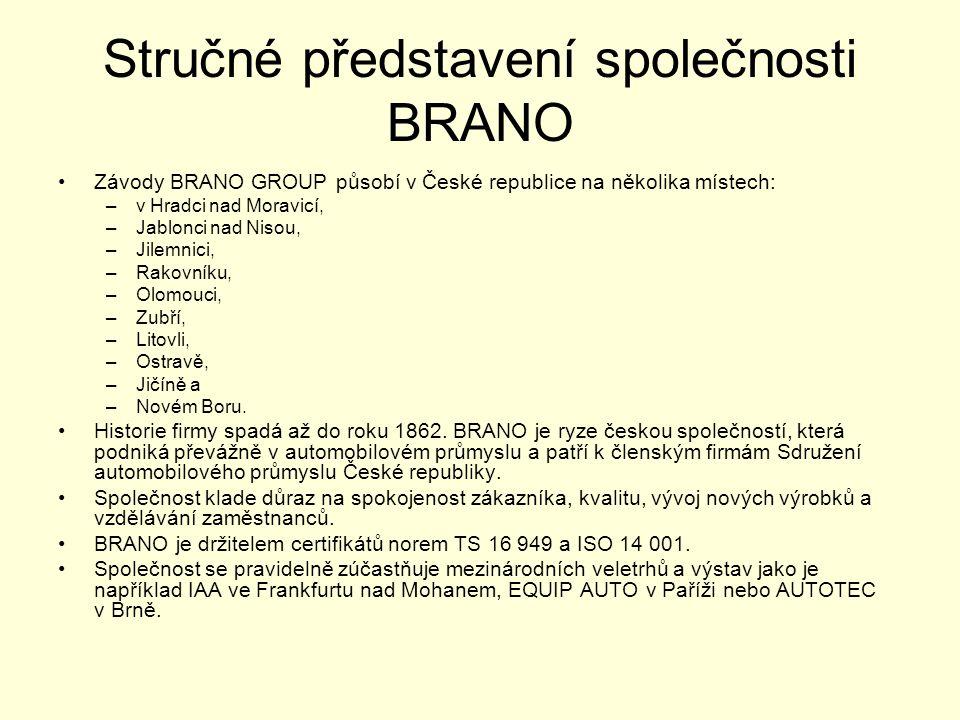 Stručné představení společnosti BRANO
