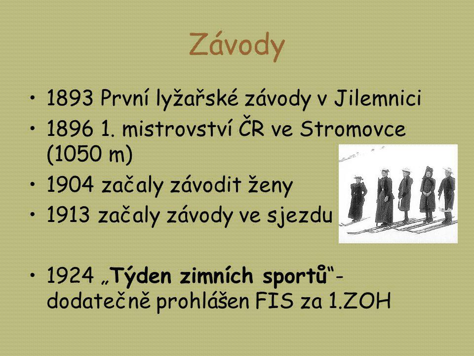 Závody 1893 První lyžařské závody v Jilemnici