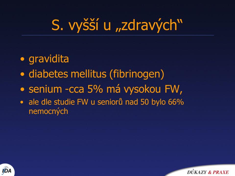 "S. vyšší u ""zdravých gravidita diabetes mellitus (fibrinogen)"