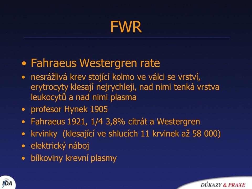 FWR Fahraeus Westergren rate