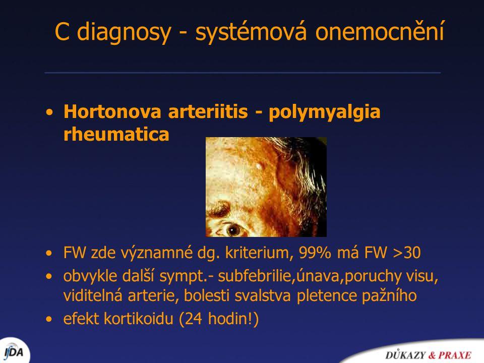 C diagnosy - systémová onemocnění