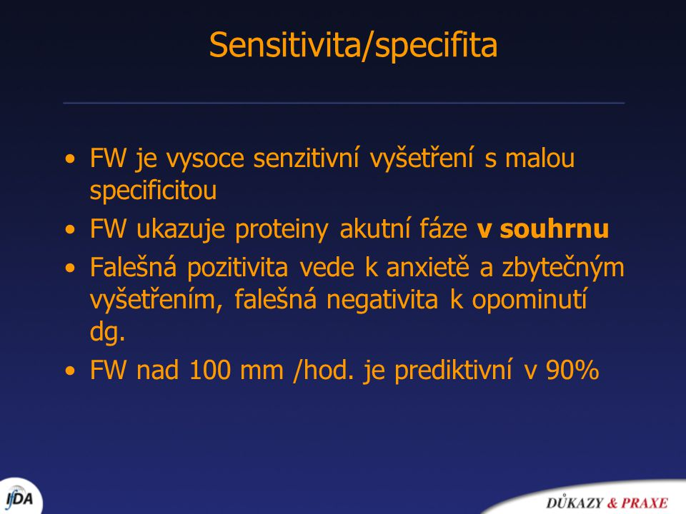 Sensitivita/specifita