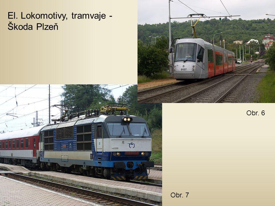El. Lokomotivy, tramvaje - Škoda Plzeň