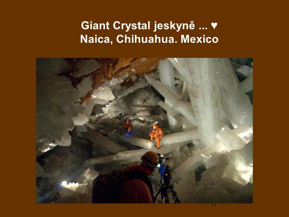 Giant Crystal jeskyně ... ♥ Naica, Chihuahua. Mexico