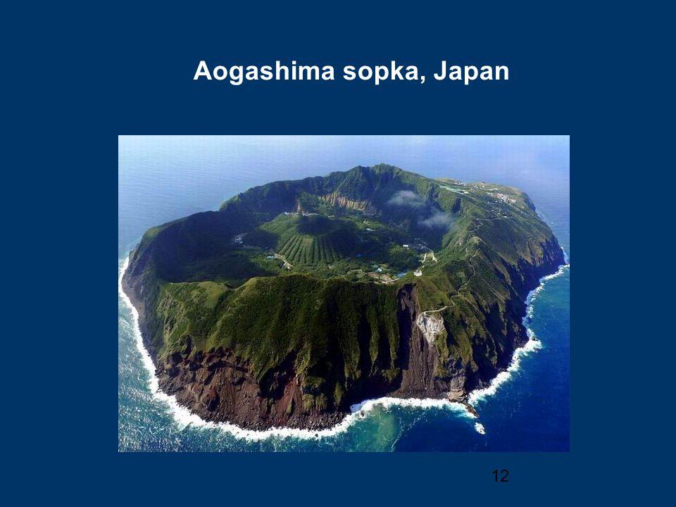 Aogashima sopka, Japan